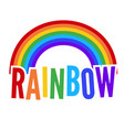 colorful rainbow symbol vector image vector image