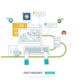 Concept for business analysis consulting vector image vector image