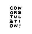 congratulations typography lettering decorative vector image