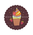 delicious cakes vector image vector image