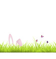 easter background green grass and easter egg and vector image