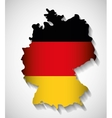 Flag map icon black red yellow Germany vector image vector image