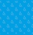 flask pattern seamless blue vector image vector image