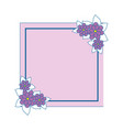 frame with flowers vector image vector image