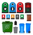 Garbage containers vector image