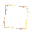 geometric frame decoration empty white background vector image vector image