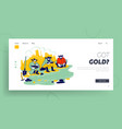 gold rush landing page template group american vector image vector image