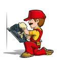 Handyman Nailing Red vector image vector image