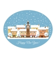 Happy New Year Winter Town vector image vector image