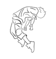 Hip-hop man dancer contour sketch vector image