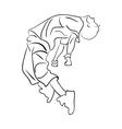 Hip-hop man dancer contour sketch vector image vector image