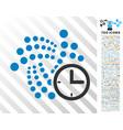 iota clock flat icon with bonus vector image vector image