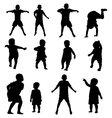 kids silhouette set vector image vector image
