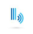 Letter B wireless logo icon design template vector image vector image