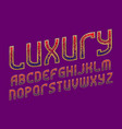 luxury patterned alphabet golden ornament with vector image
