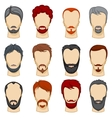 Man cartoon hairstyles collection vector image vector image
