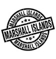 marshall islands black round grunge stamp vector image vector image