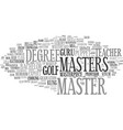master word cloud concept vector image vector image