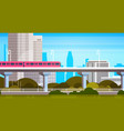 modern city skyscrapers view cityscape panorama vector image vector image