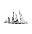 music visualizer icon design template isolated vector image vector image