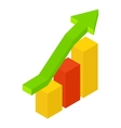 New growth chart isometric icon vector image vector image