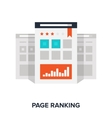 page ranking concept vector image vector image