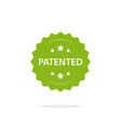 patented stamp label flat cartoon patent vector image