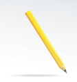 Pencil isolated on a white backgrounds vector image vector image