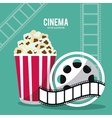 pop corn movie film cinema icon graphic vector image vector image