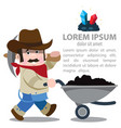 prospector cowboy wild west cartoon character of vector image vector image