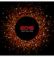 Red Bright New Year 2015 Background vector image