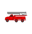 red engine fire truck emergency service for vector image vector image
