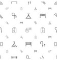 rope icons pattern seamless white background vector image vector image