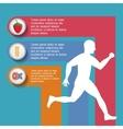 runner athlete running design vector image vector image