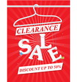 Sale poster with discount vector image vector image