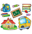 school supplies collection 1 vector image vector image