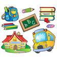 school supplies collection 1 vector image vector image