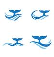 sea wave logo vector image