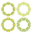 set decorative round frames vector image