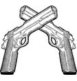 several gun vector image