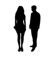 silhouettes of a man and a woman vector image vector image