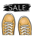 Summer trendy sports shoes Sale of sneakers vector image vector image