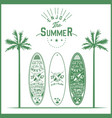 surf board poster lettering logo hand vector image vector image