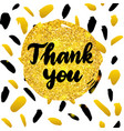 thank you postcard design vector image vector image
