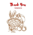Thanksgiving greeting card Thank You vector image vector image