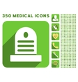 Tombstone Icon and Medical Longshadow Icon Set vector image