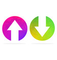 up and down arrows vector image