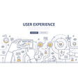 User Experience Doodle Concept vector image vector image