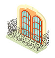 vintage balcony icon isometric 3d style vector image vector image