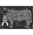 Vintage Blackboard Cut of Beef vector image vector image